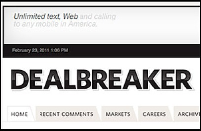 Dealbreaker Best Daily Finance Blogs Worth Subscribing To