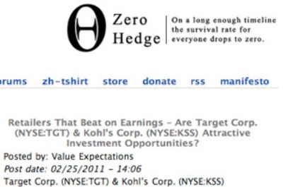 Zero Hedge Best Daily Finance Blogs Worth Subscribing To
